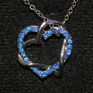 Jewelry - Blue Crystal Heart Shaped Necklace